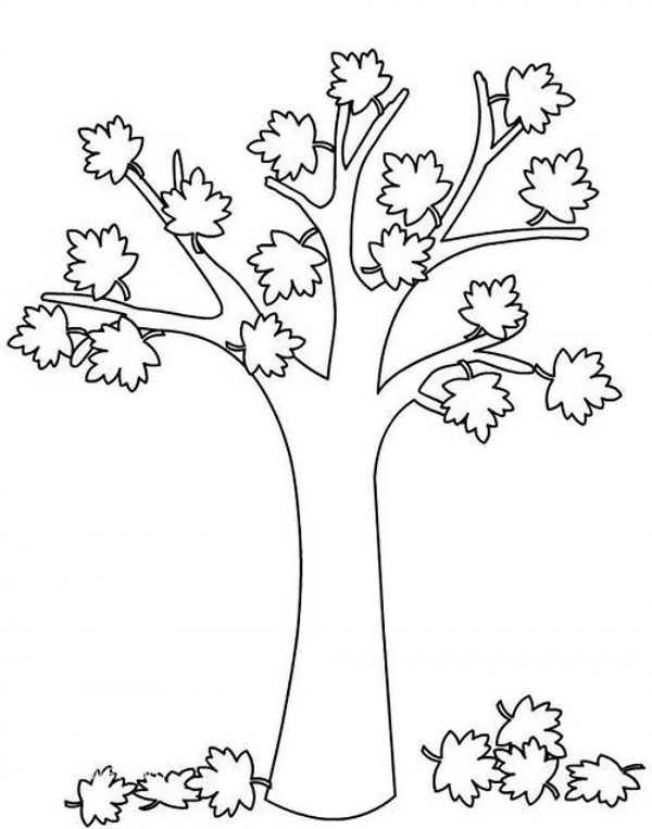 مدل نقاشی درخت پاییزی