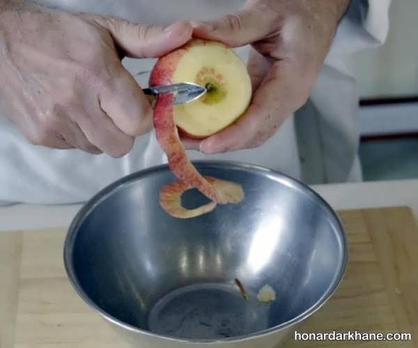مراحل تزیین سیب درختی