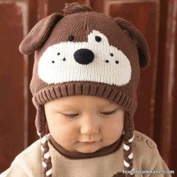 بافت کلاه عروسکی پسرانه