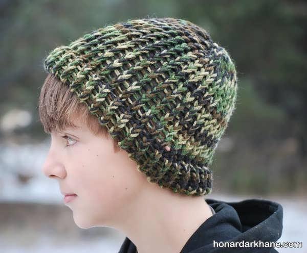 کلاه بافت جدید و زیبا