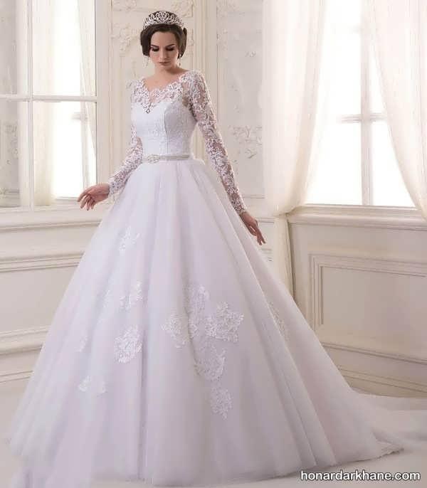 لباس عروس آستین گیپور