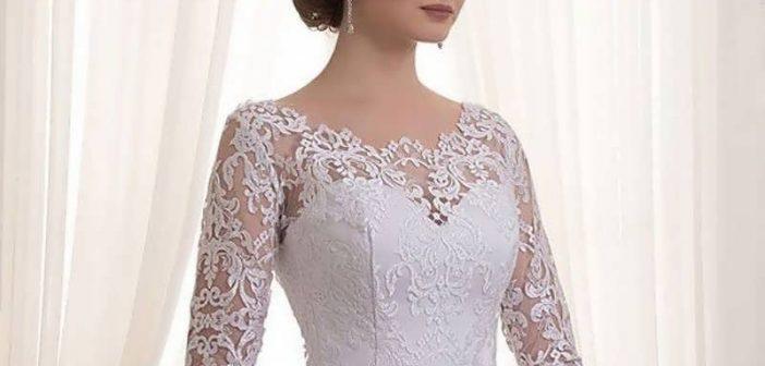 لباس عروس آستین دار جدید و شیک با مدل های خاص و زیبا