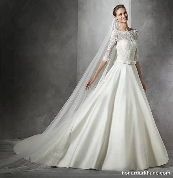 لباس عروس 96 آستین دار