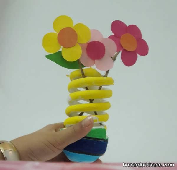 ساخت گلدان با لامپ