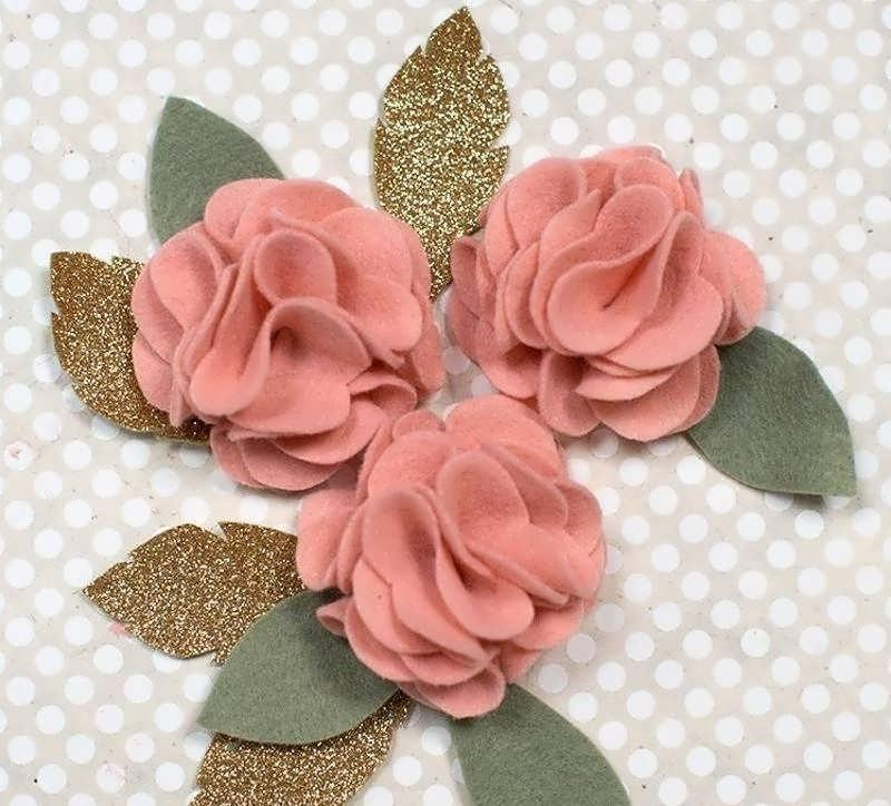 نمد دوزی روی مانتو ساخت گل نمدی با الگو و ایده هایی برای گلسازی با پارچه نمد