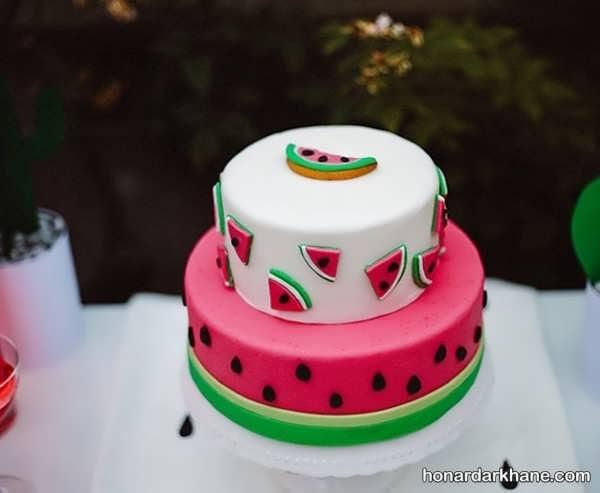 تزیین کیک زیبا برای شب یلدا
