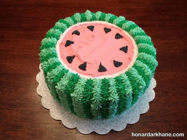 تزیین کیک هندوانه