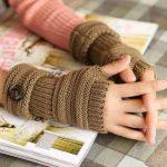 مدل دستکش بافتنی بدون انگشت