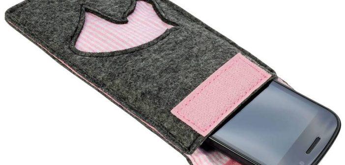 دوخت کیف موبایل نمدی