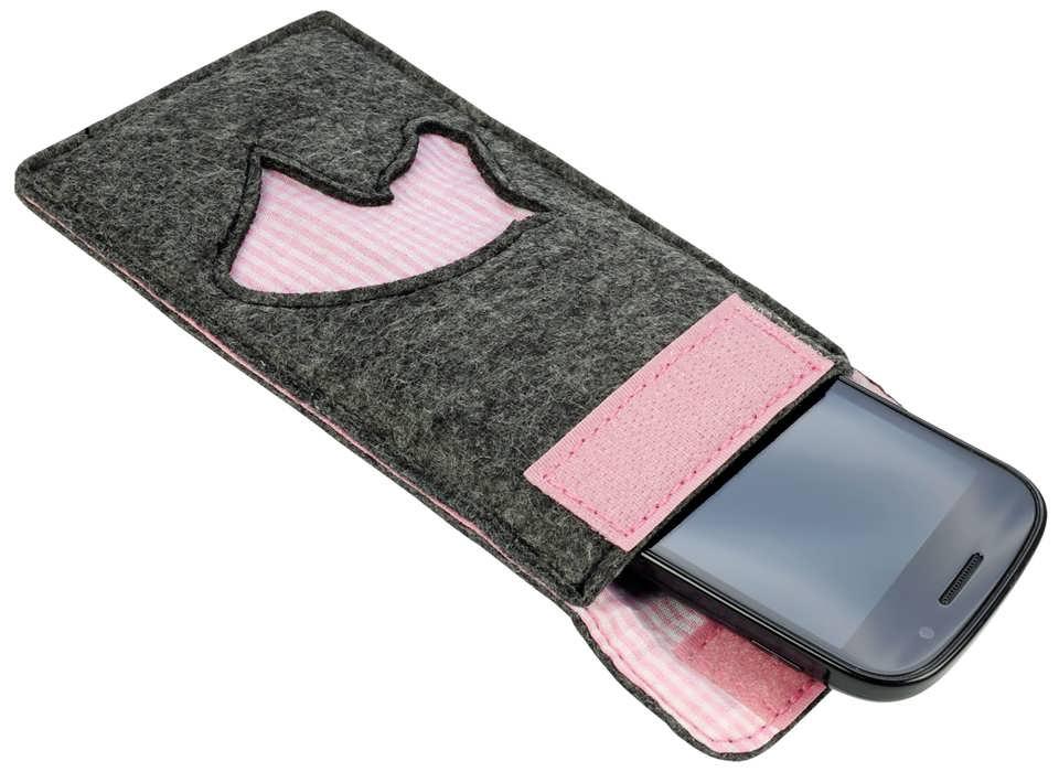 سرویس شیک نمدی دوخت کیف موبایل نمدی با روشی ساده و شیک