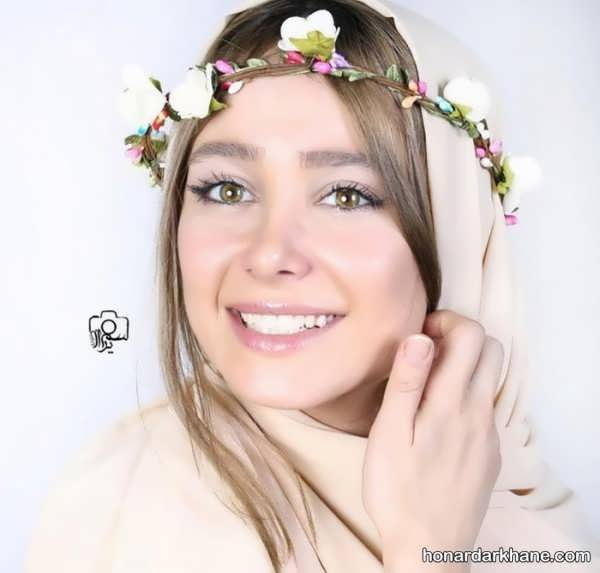رنگ موی الناز حبیبی