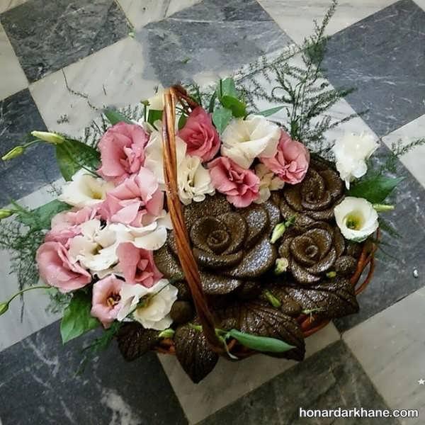 تزیین حنا با گل