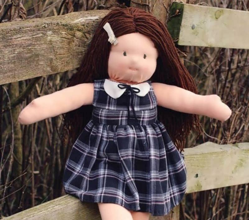 کاردستی لباس عروسک بسیار آسان ساده عروسک سازی با پارچه با روشی ساده و آسان