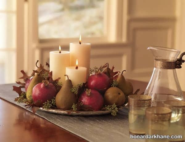 تزیین شمع یلدا