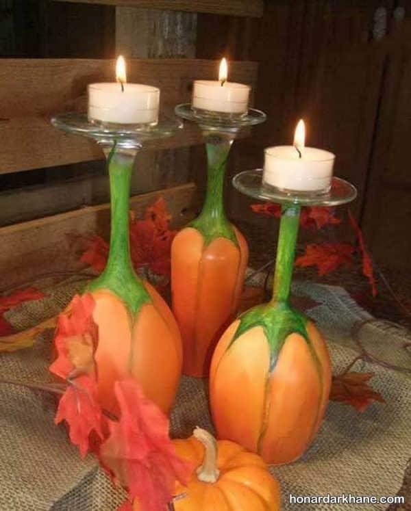 تزیین ساده شمع شب یلدا