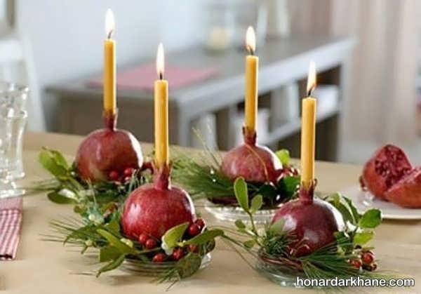 تزیین شمع زیبا و ساده