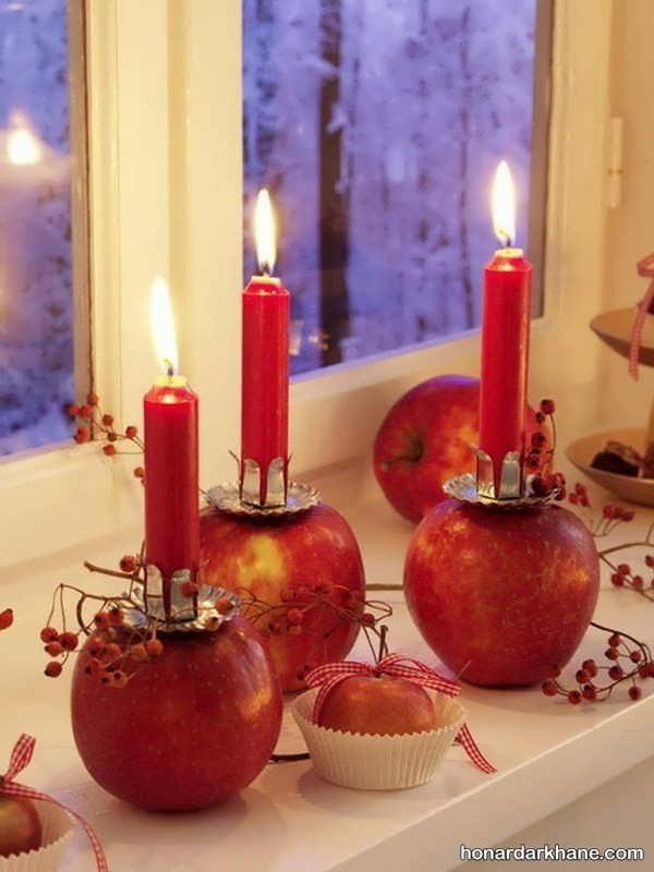 تزیینات شمع شب یلدا