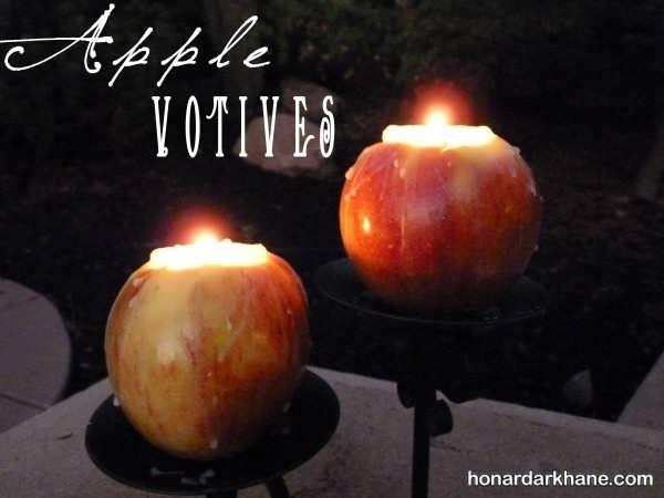 تزیین میز شب یلدا با شمع