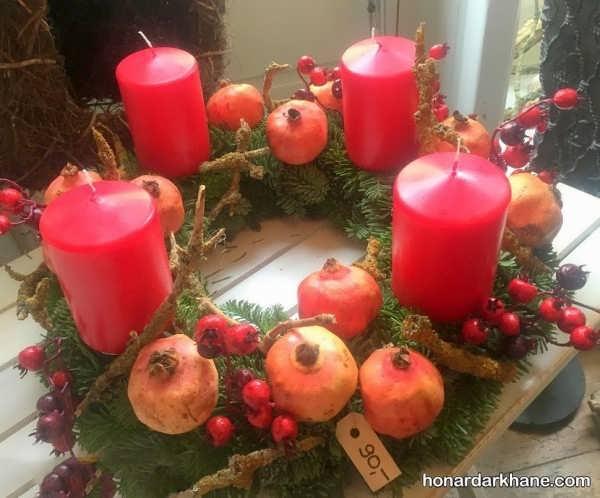دیزاین شمع برای یلدا