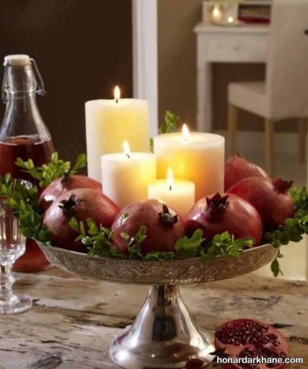 تزیین شمع های شب یلدا