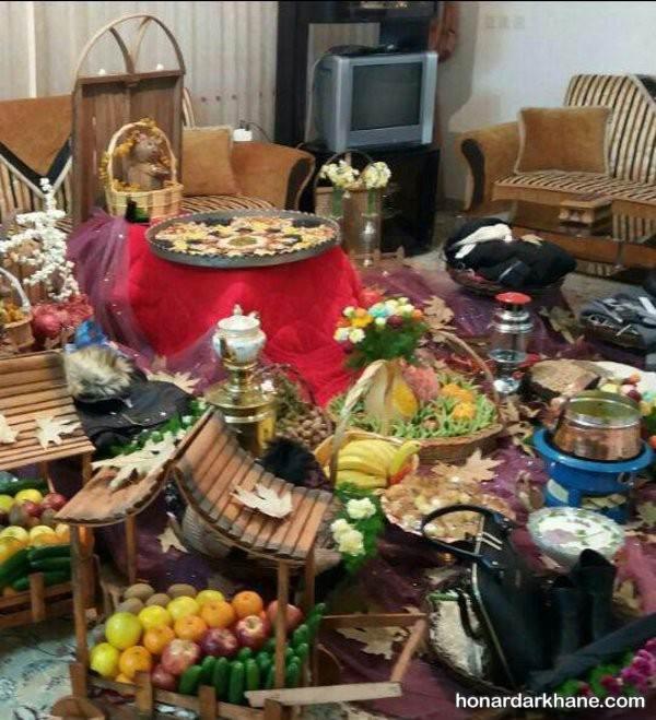 تزیینات شب یلدا برای عروس و داماد