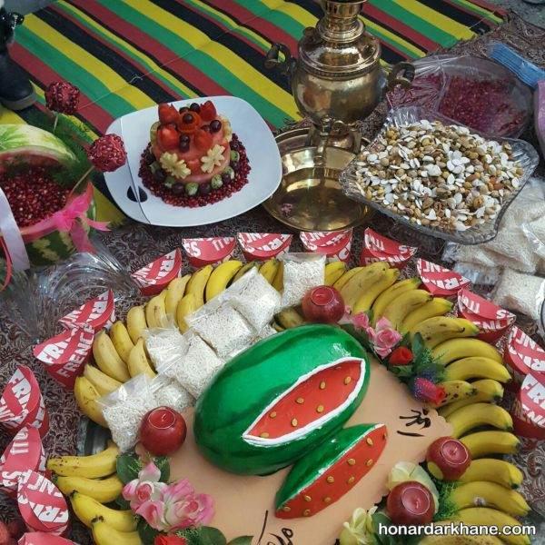 تزیین میز برای شب یلدا عروس