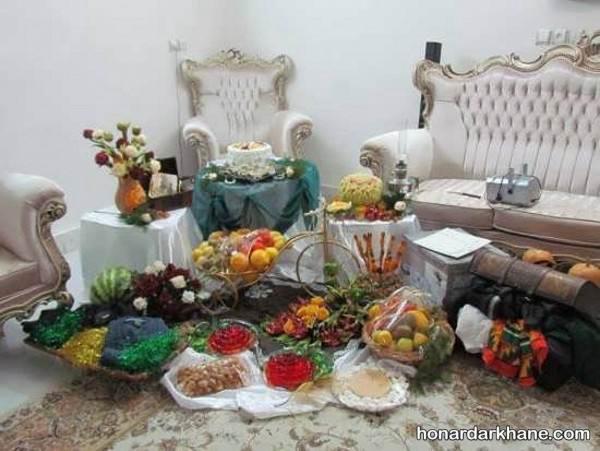 دیزاین شب یلدا برای عروس و داماد