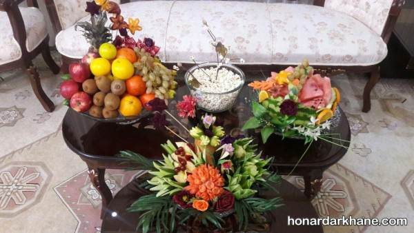 تزیین میز شب یلدایی عروس
