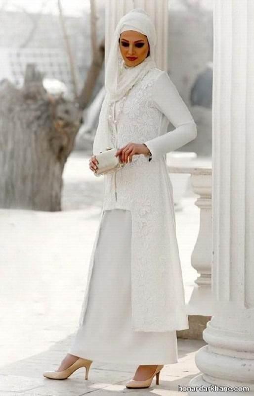 مدل مانتو بلند برای روز عقد