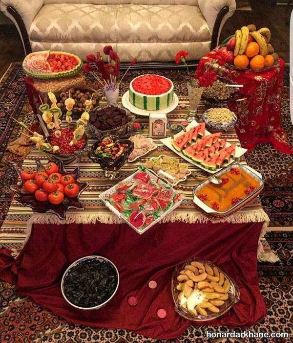چیدمان میز شب یلدا