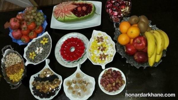 تزیین خوراکی های شب یلدا