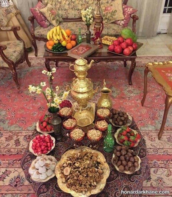 تزیین میز برای شب یلدا