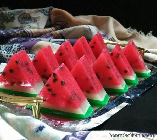ژله هندوانه برای شب یلدا