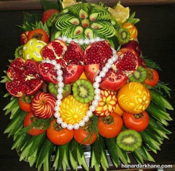 تزیین میوه ساده شب یلدا