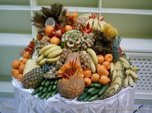 تزیین میوه های شب یلدای عروس