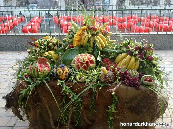 میوه آرایی شب یلدا برای عروس و داماد
