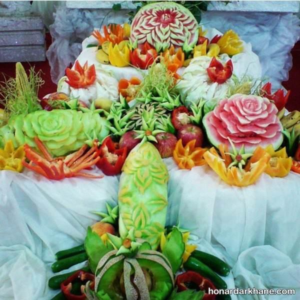 تزیین میوه روی میز برای شب یلدا