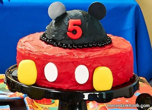 تهیه کیک با تم تولد میکی موس