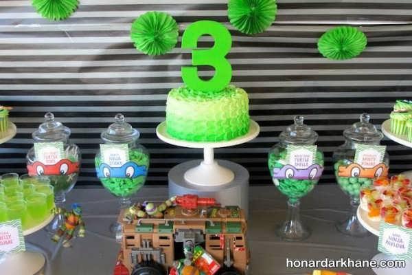 تم جشن تولد پسرانه لاک پشت نینجا
