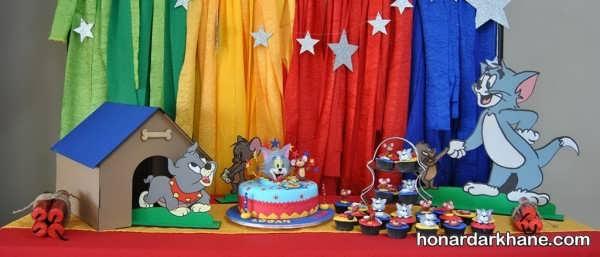 تم جشن تولد پسرانه تام و جری