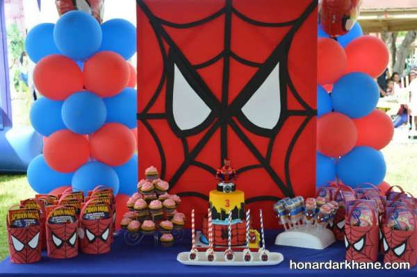 تم جشن تولد پسرانه مرد عنکبوتی