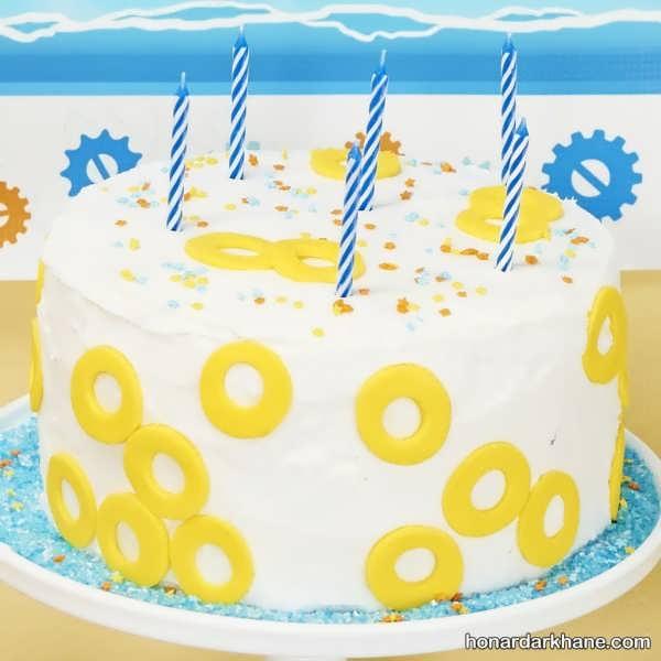 کیک تولد با تم سونیک بوم