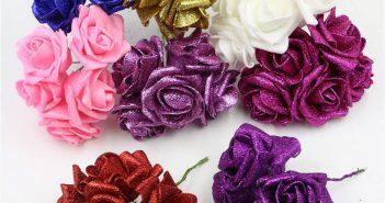 ساخت گل با فوم اکلیلی