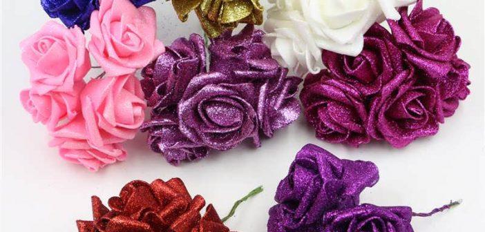 ساخت گل با فوم اکلیلی و ساده با طرح های زیبا