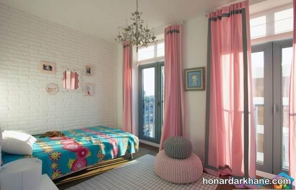 پرده ساده برای اتاق خواب