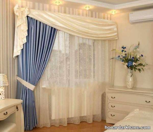 آموزش نصب کتیبه مدل پرده های ساده و زیبا برای اتاق پذیرایی و اتاق خواب