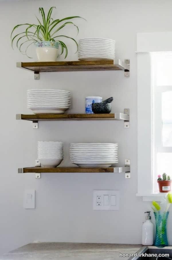مدل شلف دیواری برای آشپزخانه