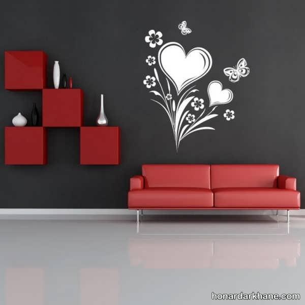 مدل دکوری دیواری سفید و قرمز