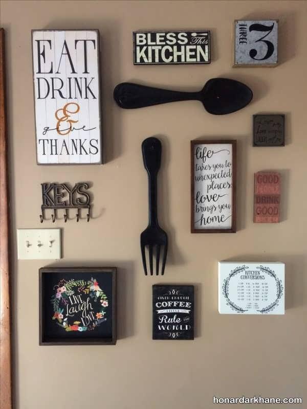 مدل دکوری دیواری شیک برای آشپزخانه