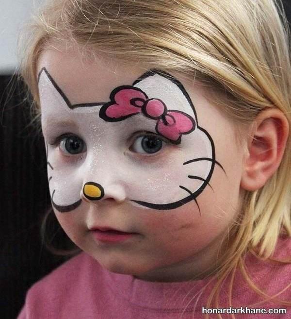 نقاشی کیتی روی صورت